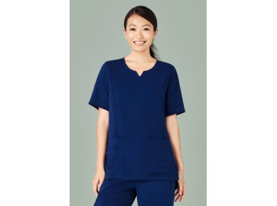 Biz Womens Round Neck Scrub Top CST942LS