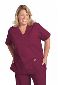 310 Unisex V-neck Scrub Top