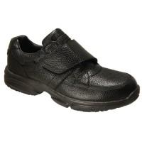 Propet Mens Four Point Velcro Shoe Black